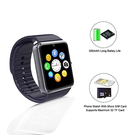 Sunflower GT08 reloj Inteligente Bluetooth Smart Watch for iPhone 6/puls/5S Samsung S4