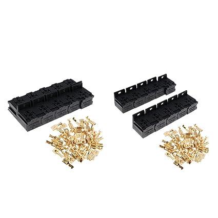 3 Pieces Automotive 80A 5 Pin Relay Socket Connector Holder Terminals