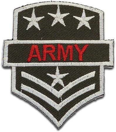ARMY Patches Aufbügeln Aufnäher // Bügelbild 6 x 7.5 cm U.S grün