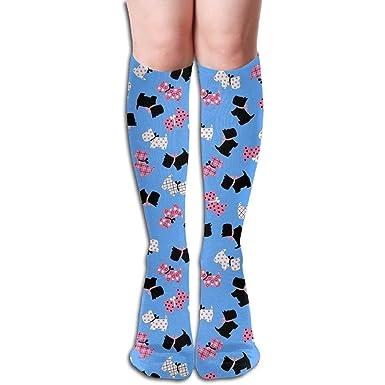 a5781eb0fd9bd Amazon.com: Tube High Knee Sock Boots Crew Flower Print Compression ...