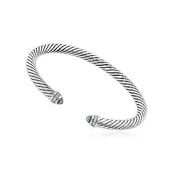 42d45cf13948c Image Unavailable. Image not available for. Color  David Yurman Cable  Classics Prasiolite   Diamonds Bracelet B04182SSAPLDI