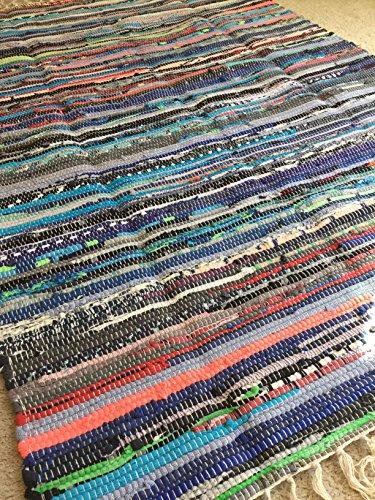 Rag rug, handwoven chindi (Rag Swedish Rug)