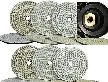 "7/"" 180mm Diamond Polishing Pad 11 Piece Granite Concrete Sander Glass Terrazzo"