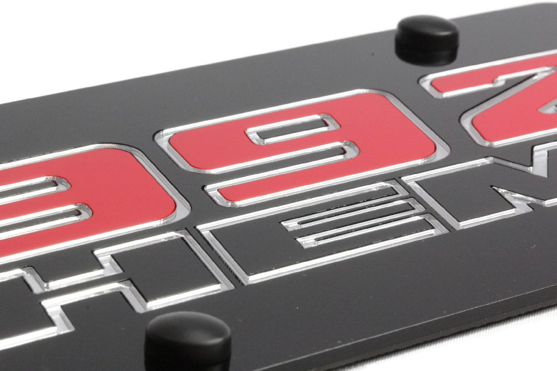Eurosport Daytona Laser Acrylic Chrysler 392 Hemi License Plate Frame 3D Novelty Tag