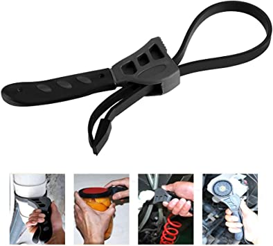 Rubber Strap Wrench Adjustable Spanners For Any Shape Opener Tool Pipe Tubing