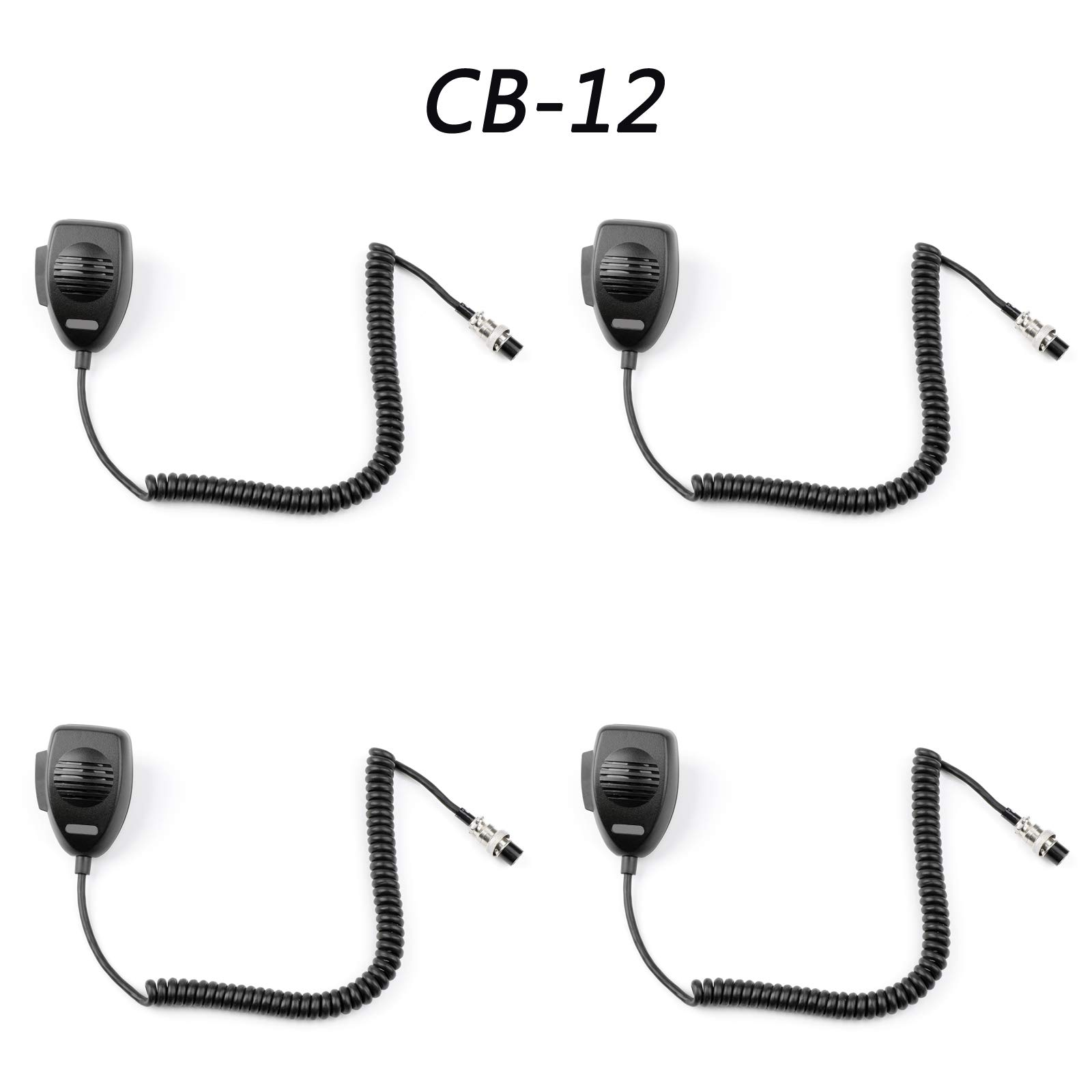 Areyourshop 4× for Cobra Cobra Walkie Talkie CB-12 Car Hand Microphone Aviation Head 4Pin