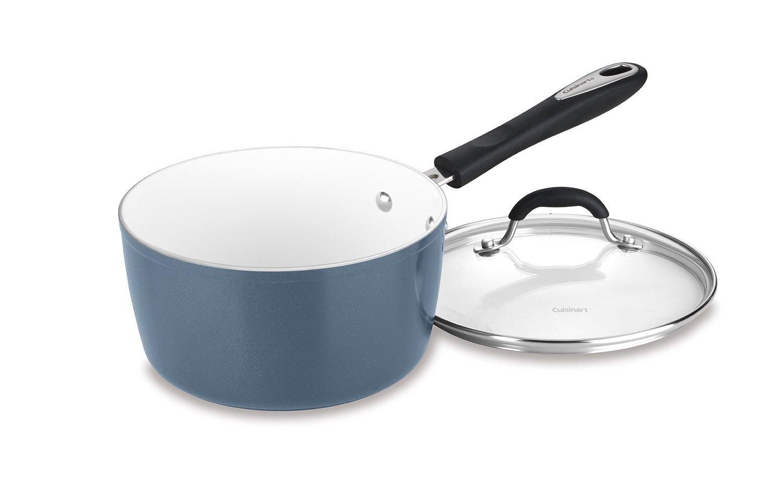 Cuisinart 59193-20SB 3 Qt. Saucepan w/Cover - Slate Blue, 3 quart