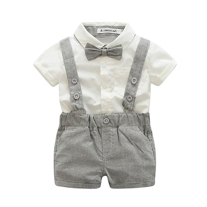 sconto di vendita caldo acquista lusso nuova versione MiyaSudy Neonato Bambino Vestiti 2pcs Manica Corta Tutina Battesimo  Pagliaccetti Abiti Cerimonia Bimbo Eleganti Suit