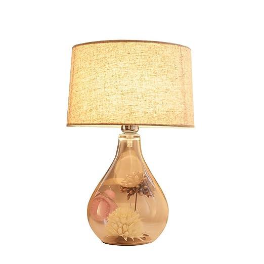 Lámpara de Mesa Lámpara de mesa de cristal transparente nórdico ...