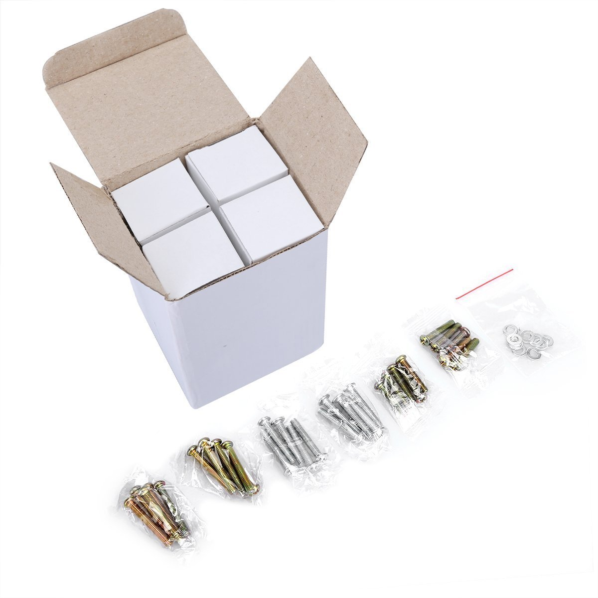 MELODIE DIRECT 10PCS 40MM Diamond Crystal Glass Cabinet Knobs Cupboard Drawer Pull Handle,3 Size Screws by MELODIE DIRECT (Image #7)