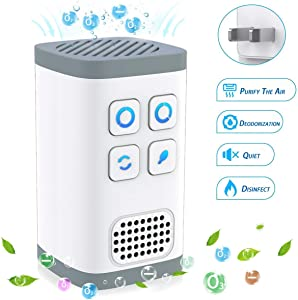 L&N Always 4IN1 Portable Air Purifier | Mini Ozone Generator + Negative Ion Generator | No Filter Change Need Design | Air Cleaner for Odors Eliminating & Air Disinfection