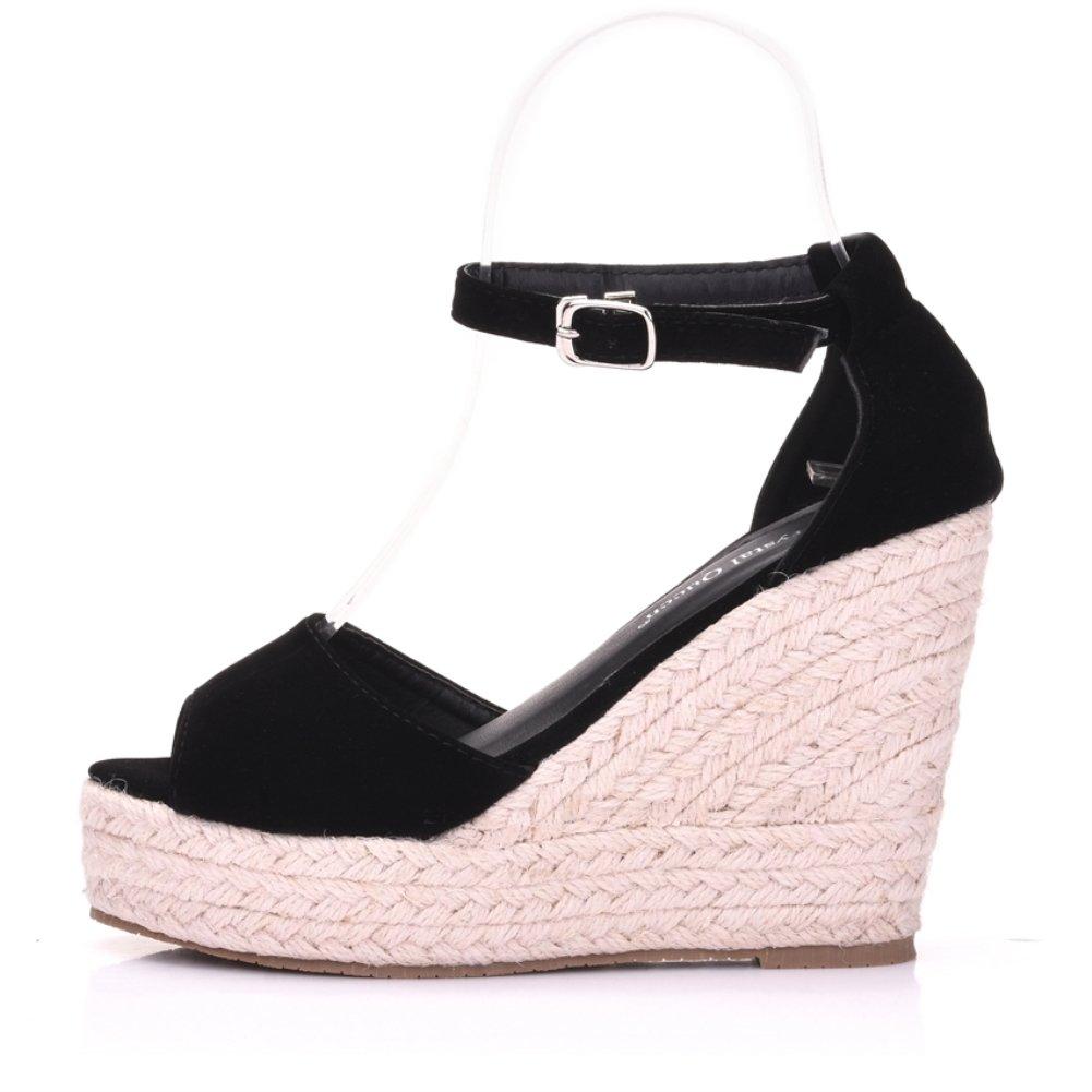 b00d3ba1ea2 ... Vie Jeune Wedges Shoes Shoes Shoes Platform High Heels Sandals  B07BQGZ7ZR 40 M EU   8.5 ...