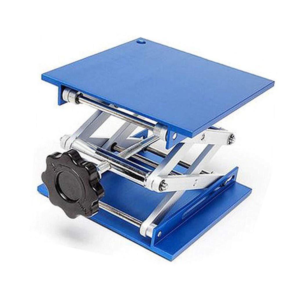 7.9 x 7.9'' Lifting Platform Lab Stand Laboratory Lift Riser Lifter Scissor Aluminum Alloy 200x200mm