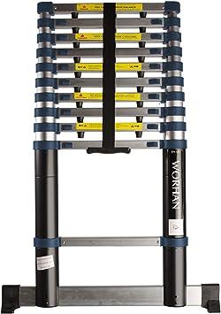WORHAN® 3.2m Escalera Telescopica PRO Multiuso Aluminio Anodizado ...