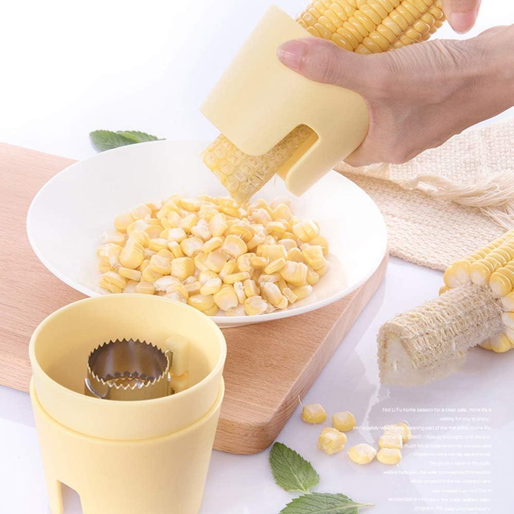 Corn Cob Peeler Stripper Splitter Yellow Remover Thresher Tool Kitchen U8G2
