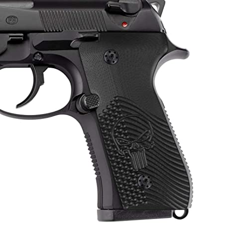 Cool Hand G10 Grips for Beretta 92/96 Full Size, 92 fs, m9, 92a1, 96a1, 92  INOX, Screws Included, OPS w/Skull Texture