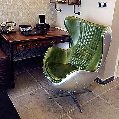 Repliche Poltrone Design.Plushdeco Pre Order In Pelle Verde Alluminio Eggchair