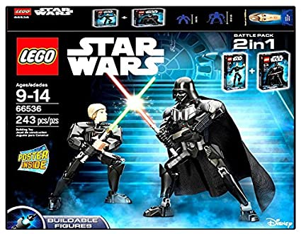 Amazon.com: LEGO 66536 Buildable Darth Vader and Luke Skywalker ...