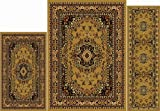Home Dynamix Area Rugs - Ariana Collection 3-Piece Living Room Rug Set - Ultra Soft & Super Durable Home Décor - 7069-101 Sand