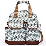 Diaper Bag Backpack Baby Bags for Mom Convertible Shoulder Strap Travel Backpacks for Girls Adjustable Crossbody Multi Functional Gender Neutral Designer Polka Dot Turquoise Brown Coches para Bebes