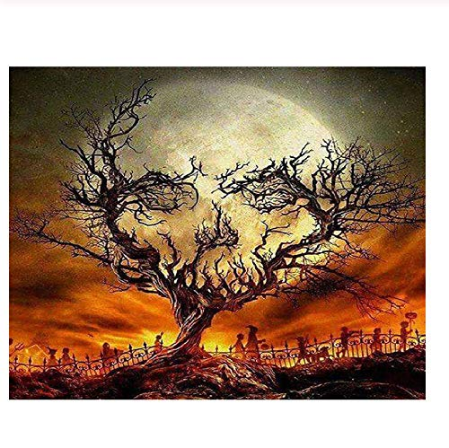 Classic Jigsaw Puzzle 1000 Pieces Adult Puzzle Wooden Puzzle Halloween Night Landscape DIY Modern Wall Art Home Decor 75X50Cm -