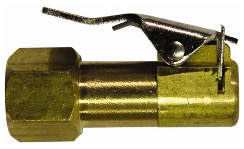 Brass Closed Check Air Chuck, 1/4 FNPT, 150 Max psi, Clip On Chuck