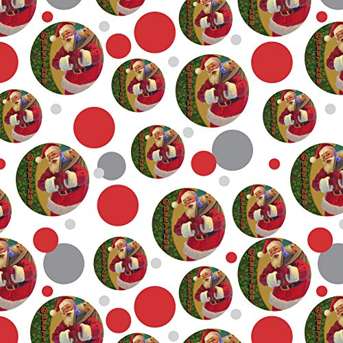 GRAPHICS & MORE Christmas Holiday Greetings Santa Claus Holly Premium Gift Wrap Wrapping Paper Roll (Decor Wrap Holly Holiday)
