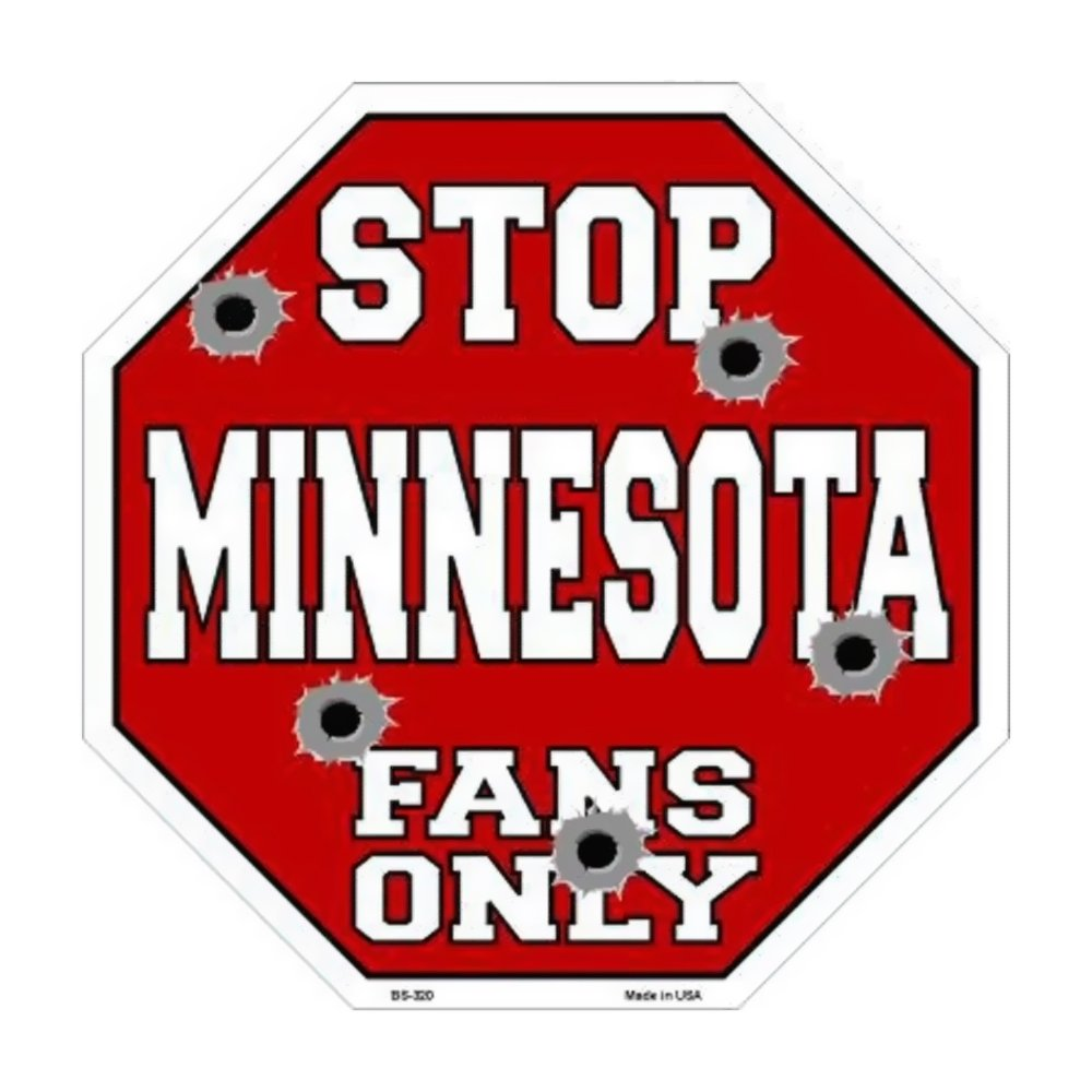 スマートブロンドMinnesotaファンのみメタルノベルティOctagon Stop Sign bs-320 B01C4C2C8O 14322