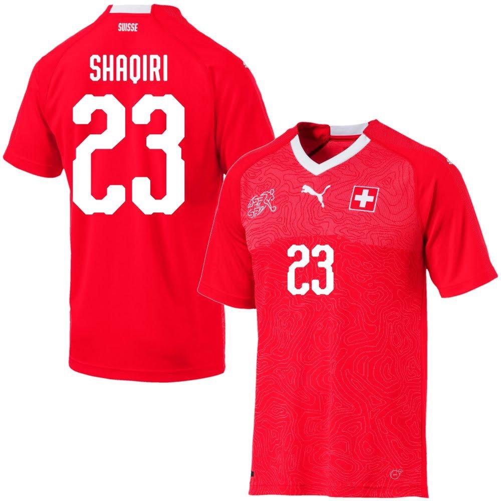 Schweiz Home Trikot 2018 2019 + Shaqiri 23 (Fan Style)