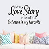 1pc Love Story Wall Stickers Removable Wall Art Sticker Living Room Adhesive Vinyl Decals Wallpaper Home Bedroom Decoration Wall Stickers