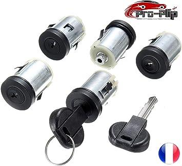 Pro-Plip - Juego de 5 cerraduras para puertas y cilindros para Peugeot Expert 806, Citroën Jumpy XM Evasion Dispatch, Fiat Scudo Ulysse, Citroën Synergie Xsantia y llaves: Amazon.es: Electrónica