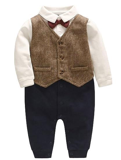 114fa8f4bb8b ARAUS Baby Boy Gentleman Christening Suit Formal Wedding Tuxedo Suit ...