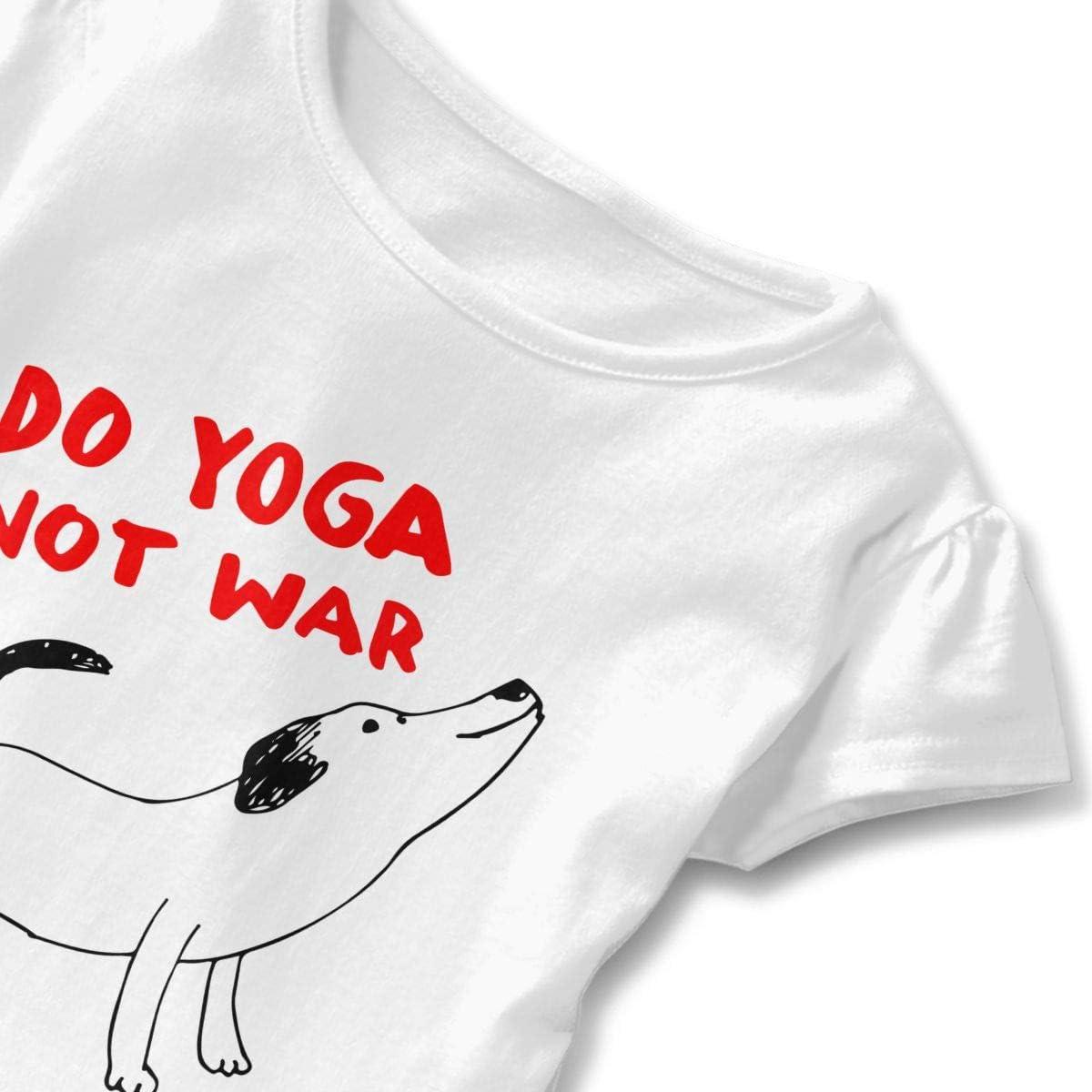 DO Yoga NOT WAR Dog Toddler Baby Girl Short Sleeve Fashion Tops
