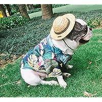 Tuersuer Sudadera con Estilo Cachorro Camisa de Mascota Hawaii Style Cat Camisa de Perro Transpirable Blue S