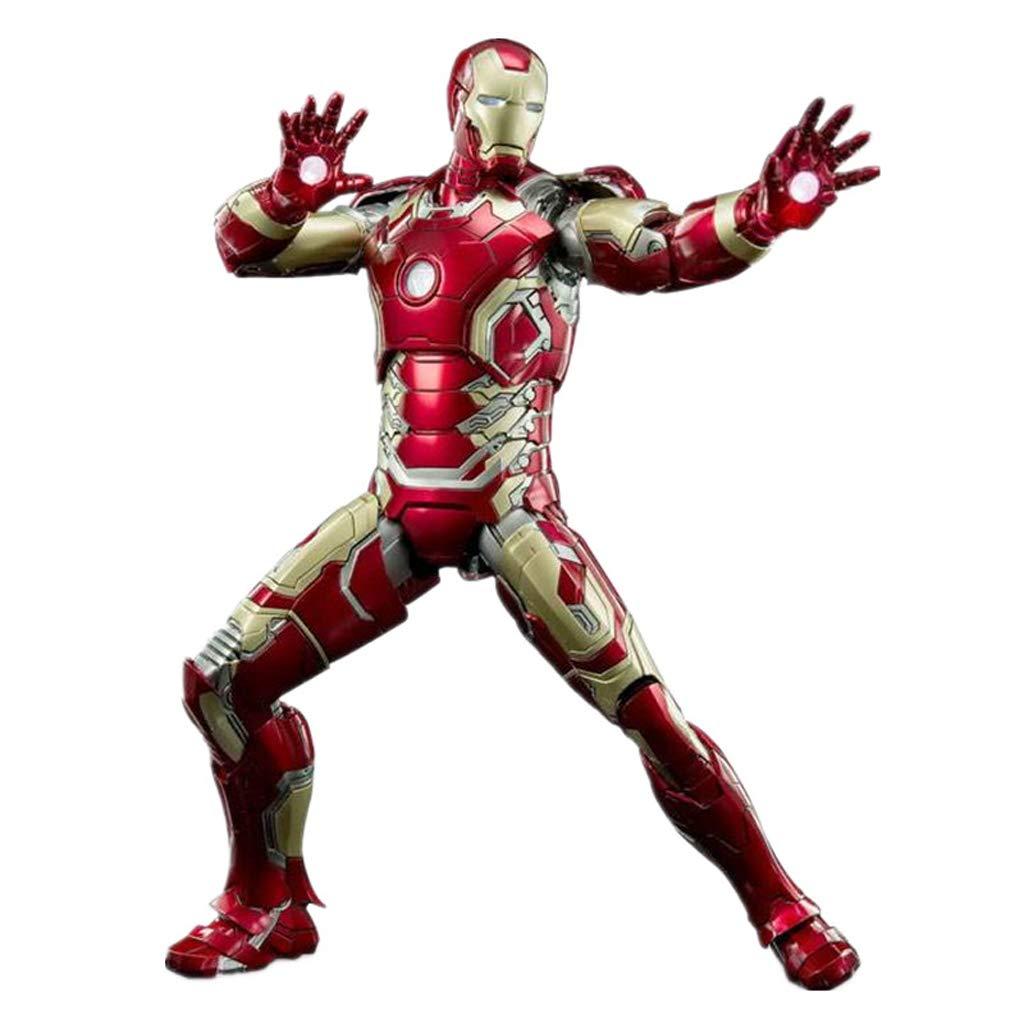 CCJW Vendicatori Iron Uomo Statue Model Anime Decorations Glowing Toys High 30cm
