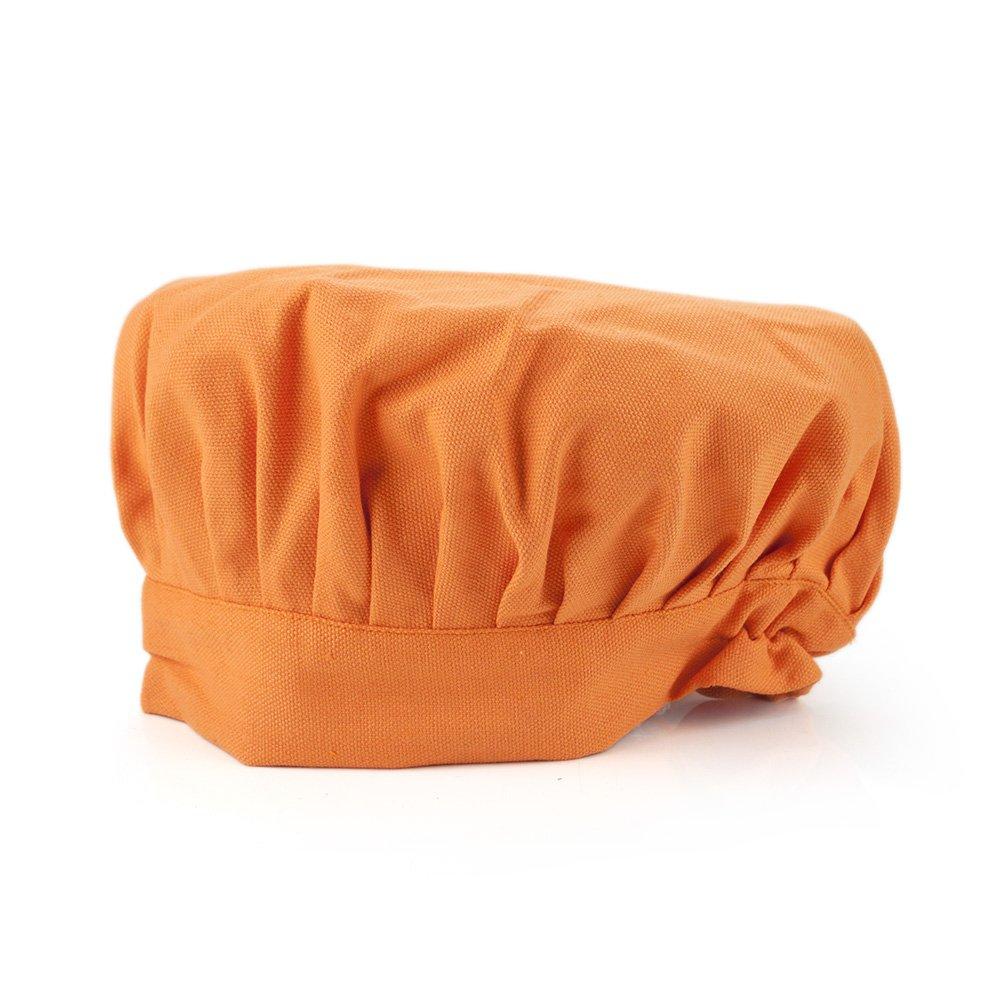 Opromo Childftsコットンキャンバスアジャスタブルシェフハット - さまざまな色 M-58.42cm B07P9C5ZMK オレンジ  オレンジ 1