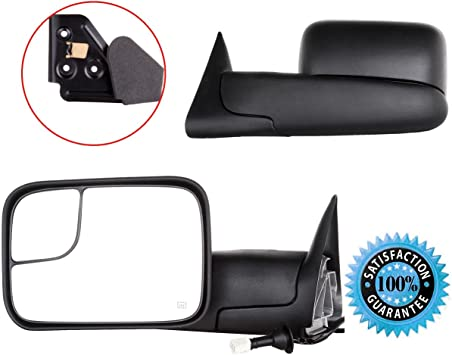 for 1998-2001 Dodge RAM 1500 1998-2002 RAM 2500 3500 Towing Mirrors Power Heated