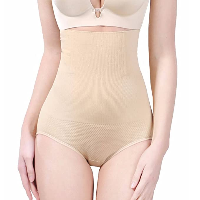 51a44f18f4 2-pack High Waist Tummy Control Body Shaper Slimming Panties 360 Nude   Beige Color