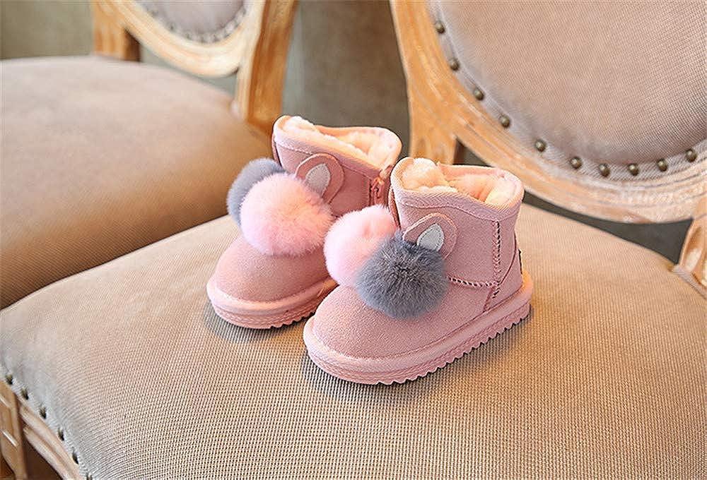 Pink1 EU 24 7.5 M US Toddler set adil Girls Infant Toddler Winter Fur Shoes Warm Snow Boots