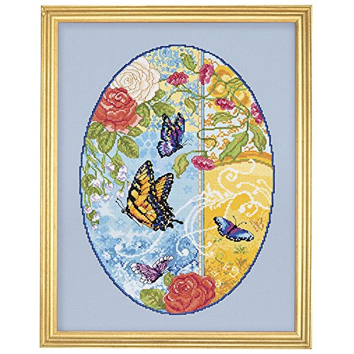 Count Stamped Cross Stitch (Janlynn Counted Cross Stitch Kit, Butterfly Fantasy)