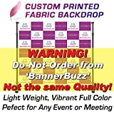True Light Fabric Banner - 10x 6 or 8x8 ft - Trade Show Banner or Step & Repeat Logo Wall Backdrop Custom Printing Service