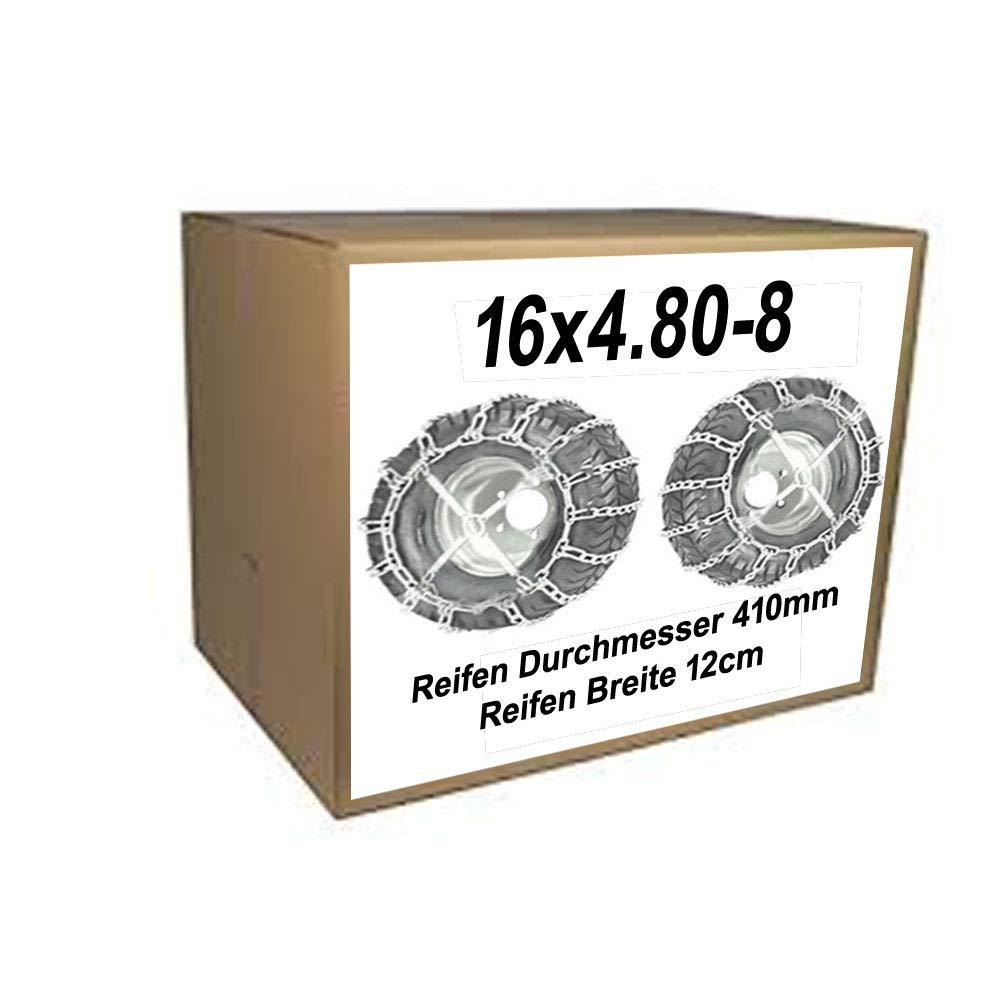 16 x 4,80-8 cadenas de nieve + tensor para neumáticos. Diámetro ...