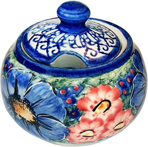 Polish Pottery Sugar Jar - Polish Pottery Sugar Bowl Eva's Collection