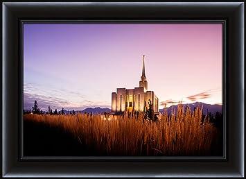 Amazon com: LDS (Mormon) 26 75 x 36 75 Framed Oquirrh