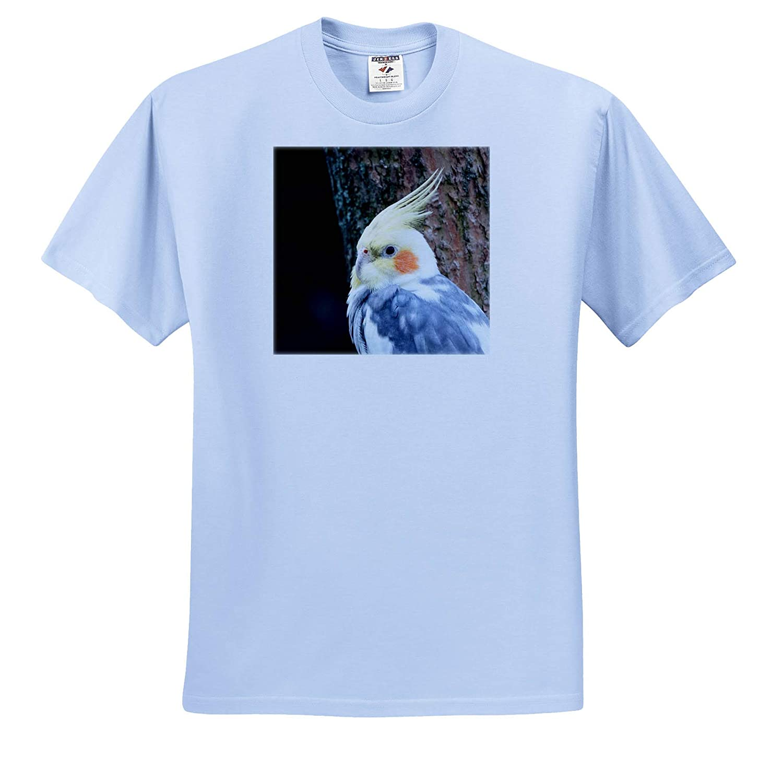 3dRose Sven Herkenrath Bird T-Shirts Portrait of Funny Cockatiel Bird Budgie