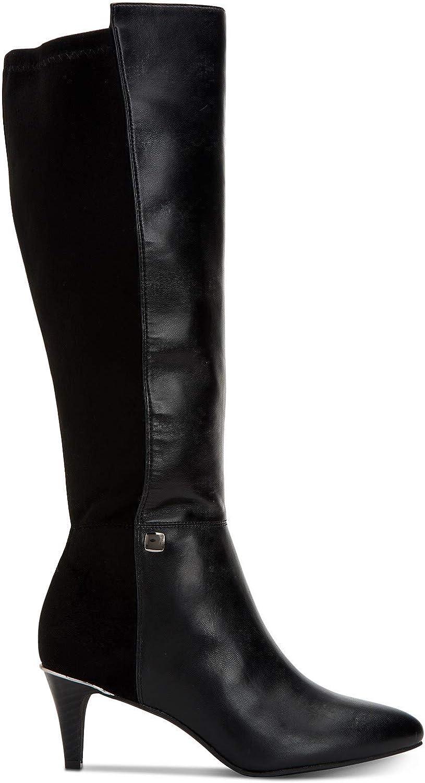 Size 9.0 Black Alfani Womens Giliann Closed Toe Knee High Fashion Boots