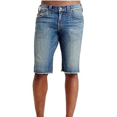 68323cb69 True Religion Men s Ricky w Flap Jean Shorts in White Pine (29 ...