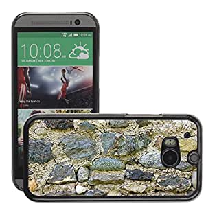 Hot Style Cell Phone PC Hard Case Cover // M00151080 Stones Wall Background Texture // HTC One M8