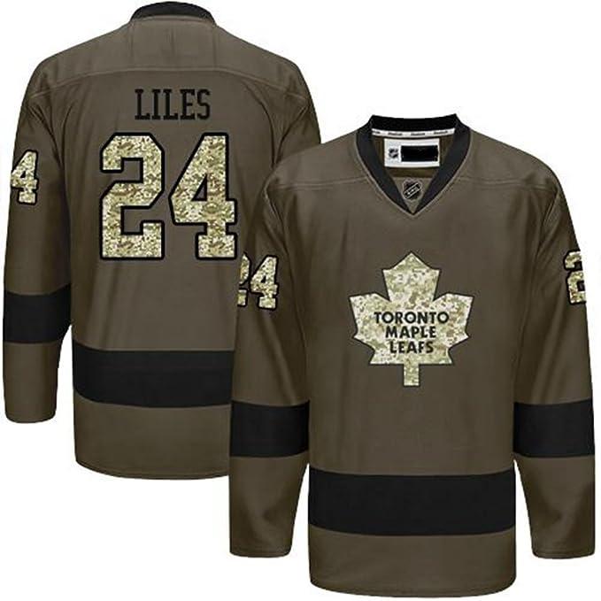 best service de032 bda0e KXMYT Toronto Maple Leafs Jersey #24 LILES Men Green Hockey ...