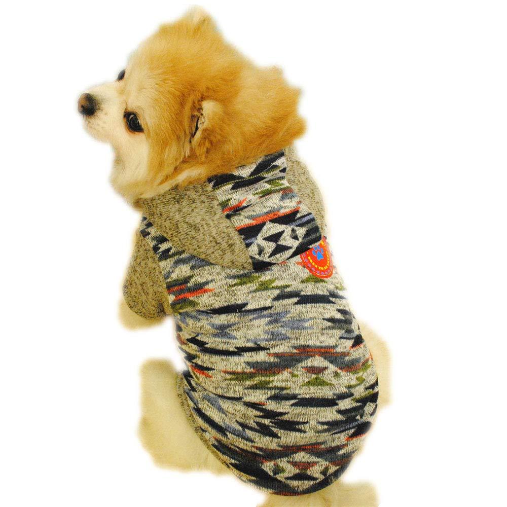 Howstar Pet Hoodie Sweatshirt Cute Sweater Dogs Clothes Puppy Cat Apparel Fleece Outwear Lovely Patchwork (XS, Blue)